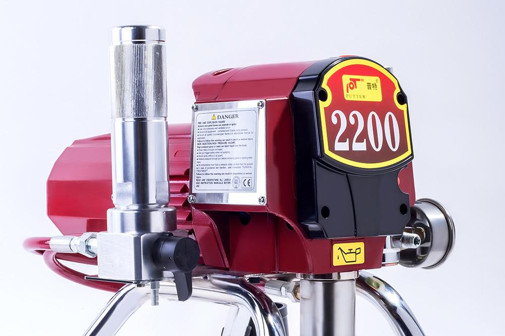 Sử dụng máy phun sơn AHP-2200 nhiều tiện lợi trong xây dựng